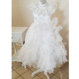 White Formal Girls dress qian qian shun size 8